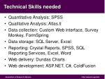 technical skills needed