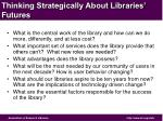 thinking strategically about libraries futures