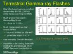 terrestrial gamma ray flashes