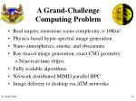 a grand challenge computing problem