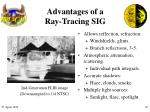 advantages of a ray tracing sig