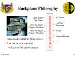 backplane philosophy
