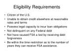 eligibility requirements6
