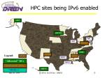 hpc sites being ipv6 enabled