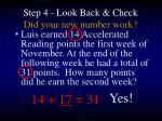 step 4 look back check did your new number work