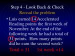 step 4 look back check reread the problem