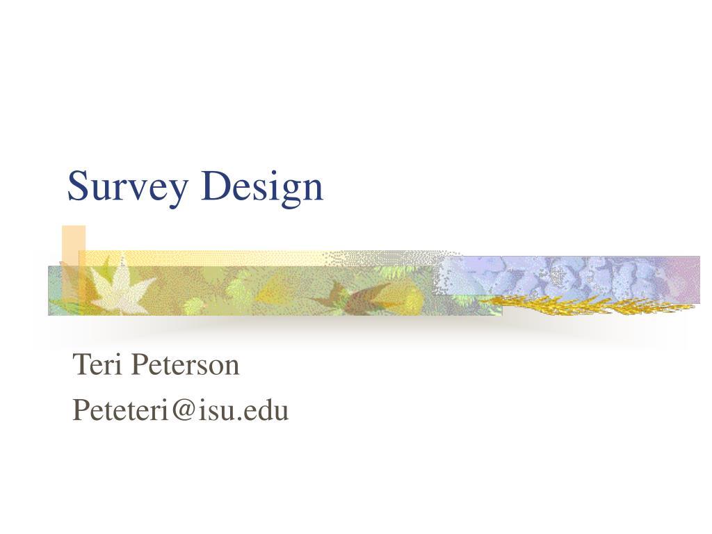 survey design l.