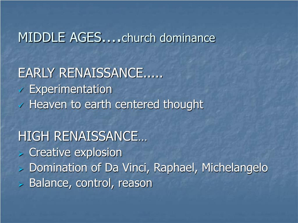 middle ages church dominance l.