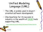 unified modeling language uml