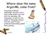 where does the name argouml come from