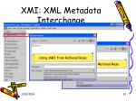 xmi xml metadata interchange