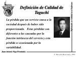 definici n de calidad de taguchi