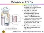 materials for edlcs