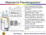 materials for pseudocapacitors