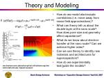 theory and modeling