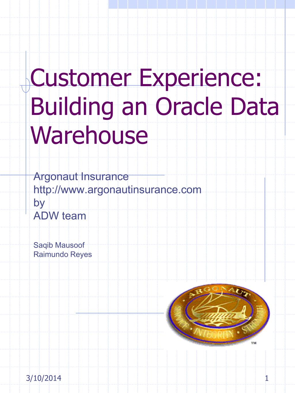 customer experience building an oracle data warehouse l.