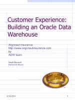 customer experience building an oracle data warehouse
