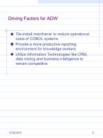 driving factors for adw