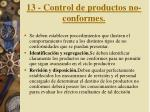 13 control de productos no conformes