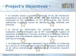 project s objectives