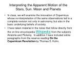 interpreting the apparent motion of the stars sun moon and planets9