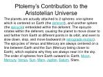 ptolemy s contribution to the aristotelian universe24