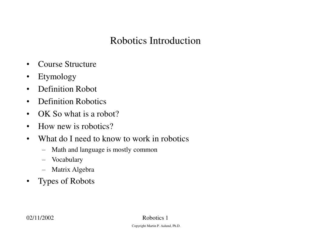 robotics introduction l.