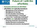 future of with the eportfolio