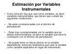 estimaci n por variables instrumentales51