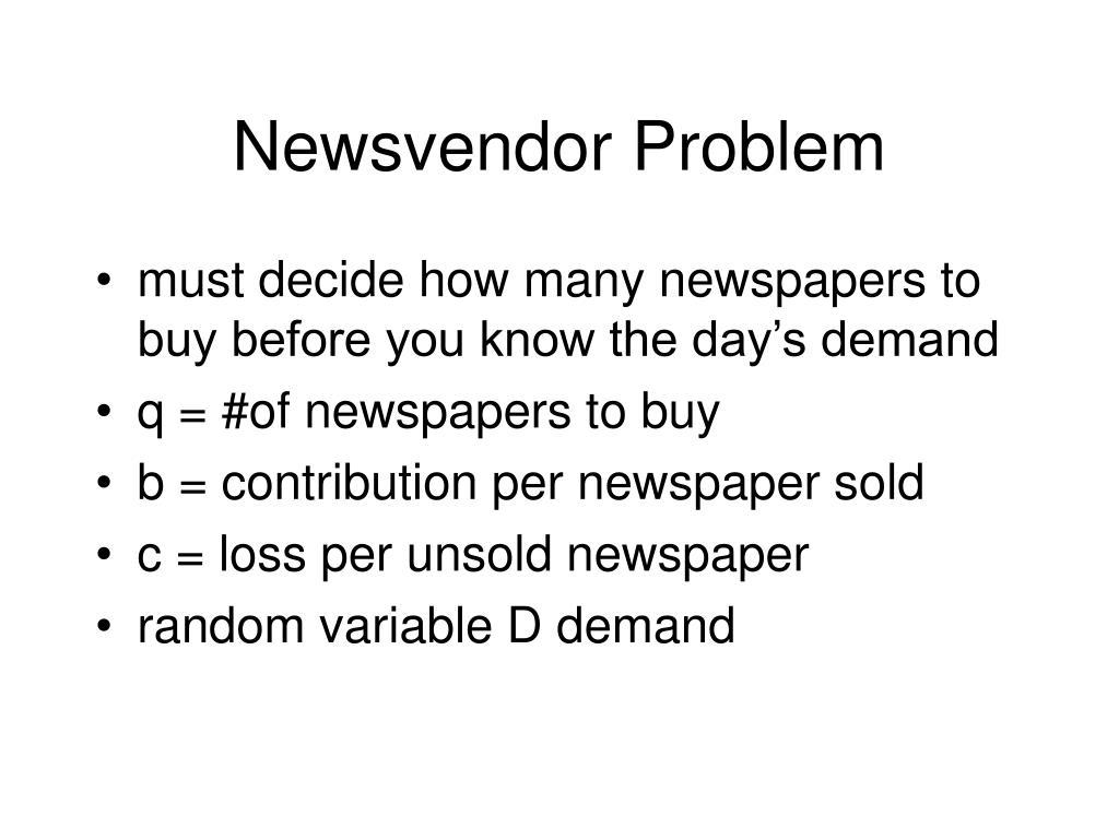 newsvendor problem l.
