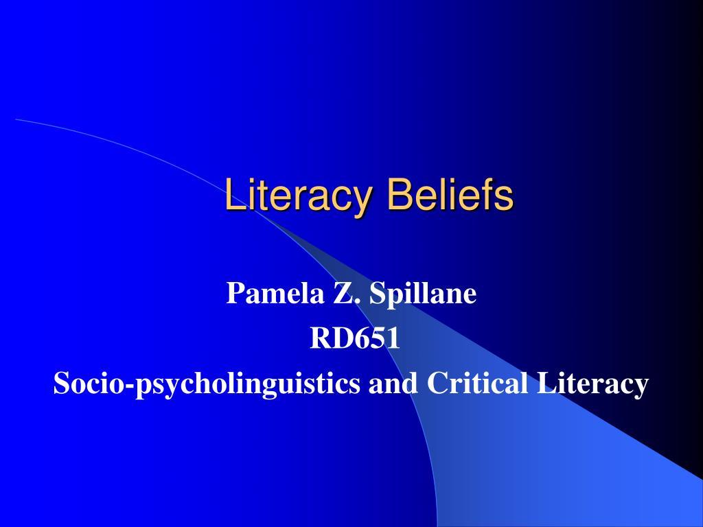 literacy beliefs l.