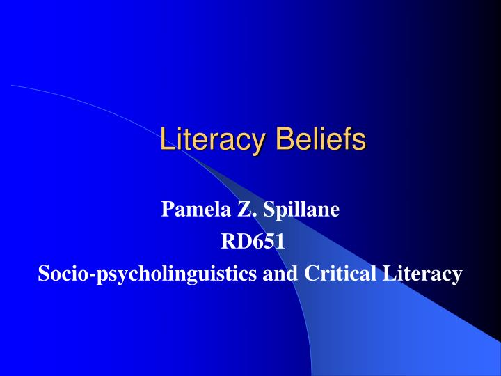 literacy beliefs n.