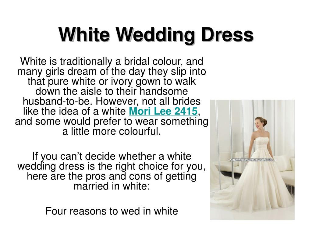 white wedding dress l.