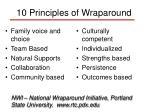 10 principles of wraparound