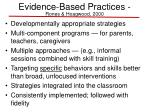 evidence based practices rones hoagwood 2000