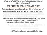 what is sbmh what are school based mental health services the applied behavior analysis view