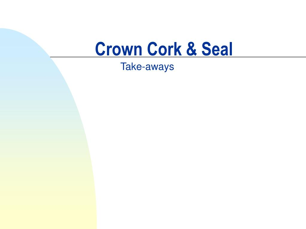 crown cork seal l.