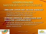 loopscholing nastreven loopefficientie