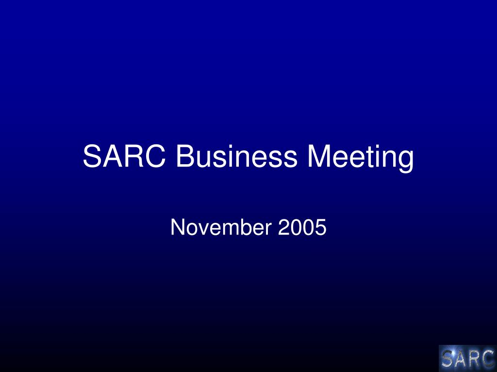 sarc business meeting l.