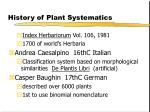history of plant systematics13