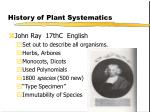 history of plant systematics14