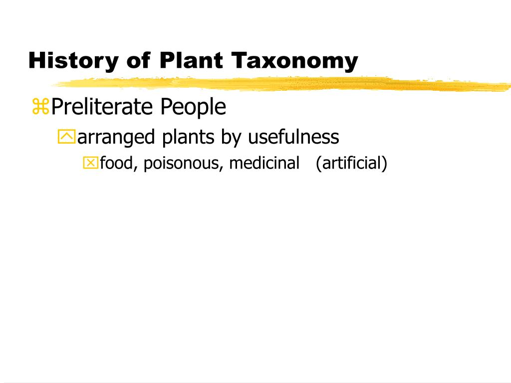 history of plant taxonomy l.