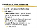 literature of plant taxonomy30