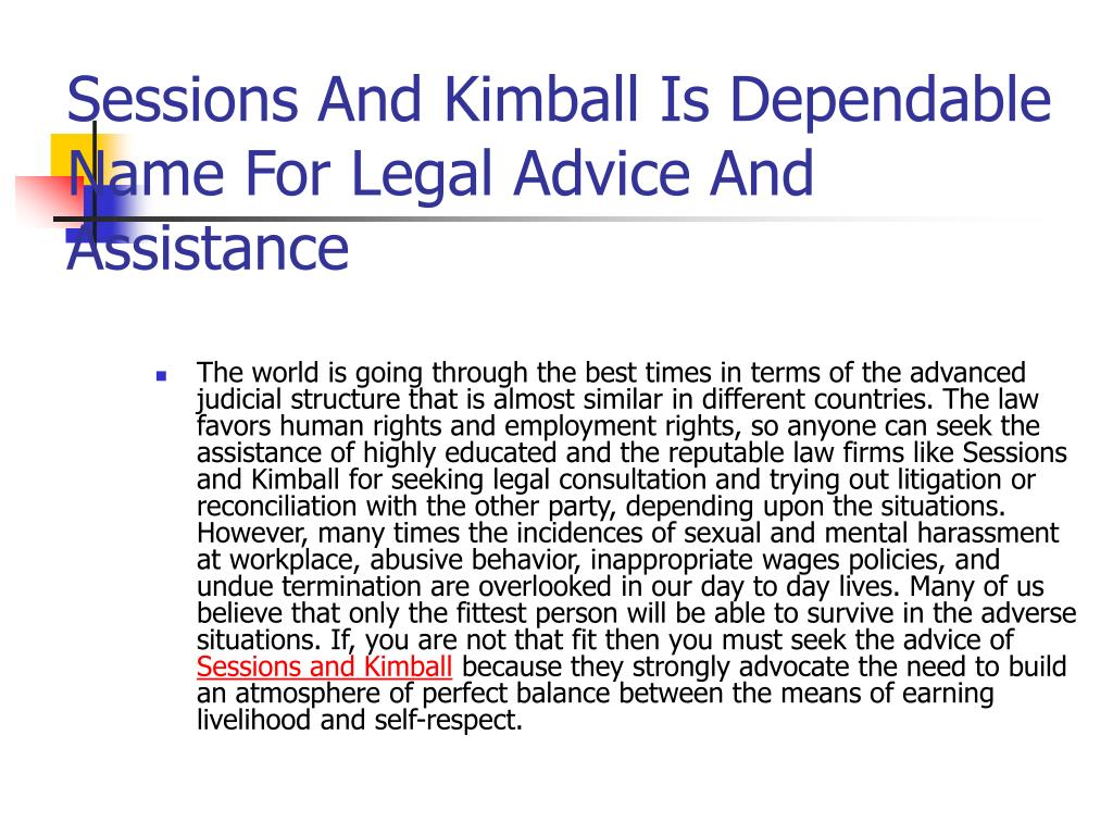 sessions and kimball is dependable name for legal advice and assistance l.