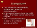 laryngectomie