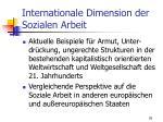 internationale dimension der sozialen arbeit