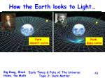 how the earth looks to light