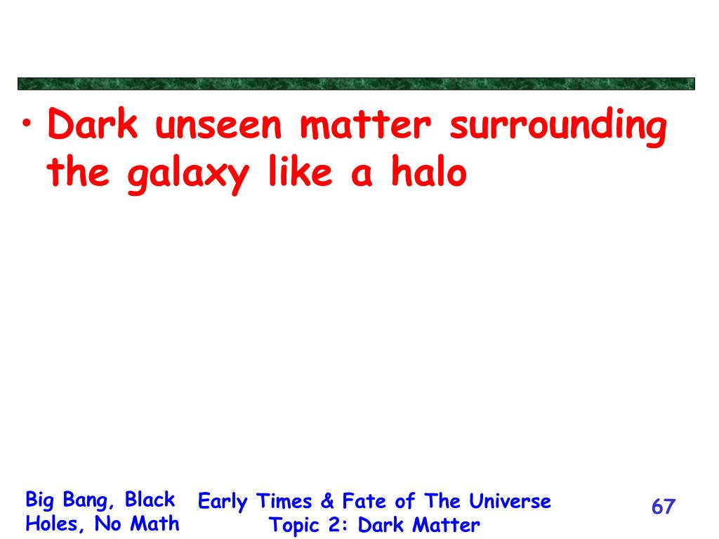 Dark unseen matter surrounding the galaxy like a halo