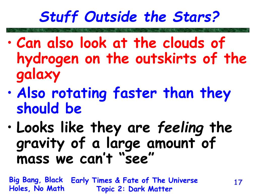 Stuff Outside the Stars?