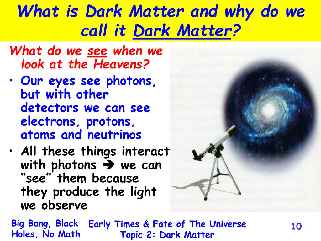 What is Dark Matter and why do we call it